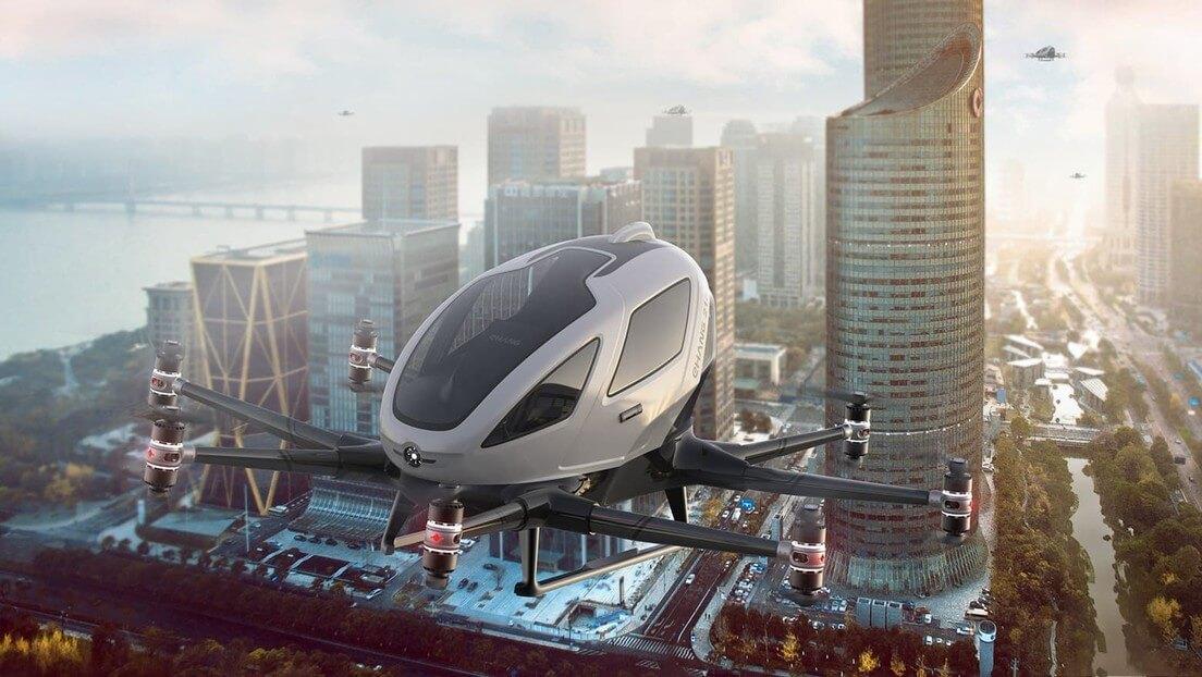 Dron Taxi volando