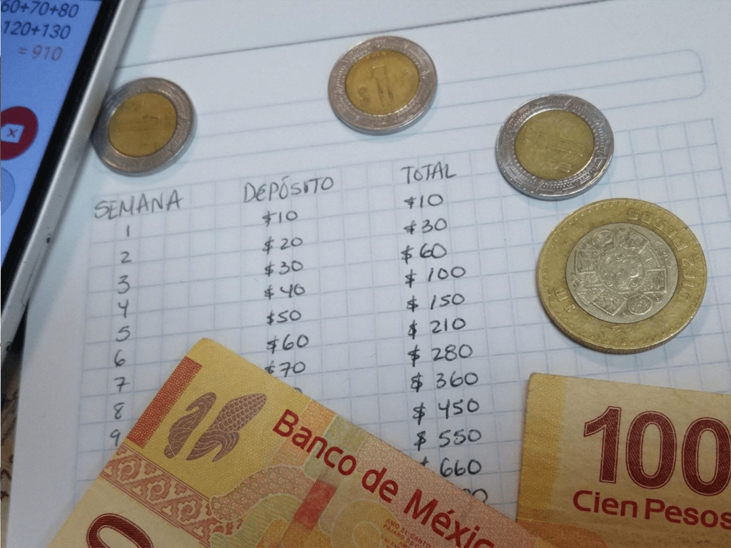 Ahorrando por semana