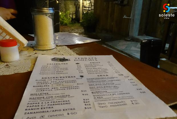 Café Terraza Bohemia Menú